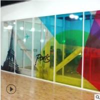 uv超透膜玻璃贴彩白彩定制透明玻璃贴 新年圣诞磨砂玻璃贴办公室