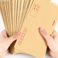 黄色牛皮纸信封 定制信封纸档案袋 白色信封票据增值税信封定做