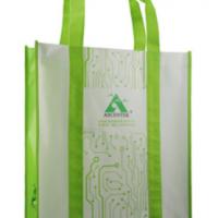 手提到底彩色绿色环保覆膜袋定做 更牢固结实 可印刷任意图案