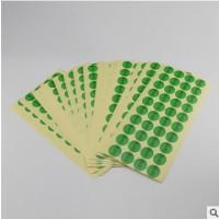 现货批发圆点ROHS环保标签贴纸圆形铜板不干胶标签贴纸加工定制