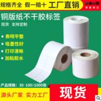 厂家直销空白卷筒铜版纸不干胶标签条码打印纸空白标签纸包装贴纸