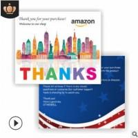 英文售后服务卡 亚马逊好评卡 ebay 英文感谢信厂家定制印刷