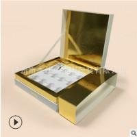 精华液套装 化妆品纸盒 精装盒 白色天地盖盒 烫金连体翻盖盒