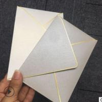 创意简约双胶纸中式信封定制 logo耐用菱形信封广告宣传纸质信封