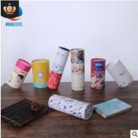 定做圆形纸罐 日用品包装牛皮纸筒定制 创意天地盖茶叶包装圆筒