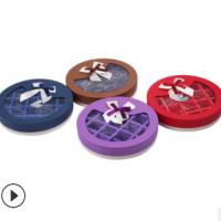 新款清新圆形 21格巧克力礼盒包装盒糖果盒纸盒蝴蝶结礼品盒