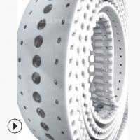 厂家直销特殊打孔同步带 打孔开槽PU同步带 聚氨酯同步带工业皮带