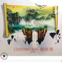创业便携墙体3d彩绘打印机 立式户外墙壁广告背景墙UV喷绘画机