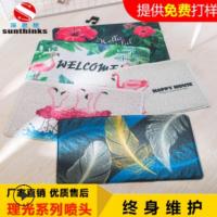 硅藻土门垫脚垫印花打印机 pvc地垫地毯图案万能uv喷绘彩印机厂家