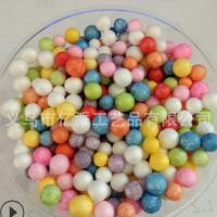 厂家直销 6-8mm DIY制作材料 泡沫球颗粒彩色保丽龙史莱姆颗粒