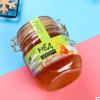 俄罗斯蜂蜜进口蒲公英蜜1000g卡扣罐装农家土特产老人土蜂蜜 批发