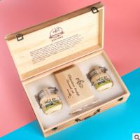 俄罗斯进口椴树蜜1000g+蜂巢蜜350g结晶雪蜜土蜂蜜原蜜礼盒装送礼