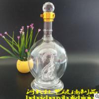供应 1斤装玻璃酒瓶 白酒玻璃瓶 工艺玻璃瓶生产厂家