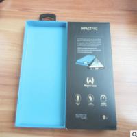 纸盒厂定做 黑色丝带开窗透明抽拉礼品盒 手机包装天地盖彩盒