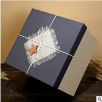 正方形礼品盒口红化妆品包装盒大号伴手礼 礼物盒天地盖礼盒现货