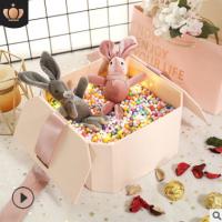 礼品盒八边形创意伴手礼盒结婚礼物盒八角盒化妆品口红包装盒定制