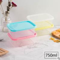 长方形保鲜盒冰箱微波炉盒厨房收纳盒密封塑料透明盒子pp保鲜盒