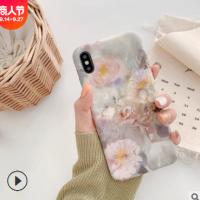 花朵油画壳8plus苹果x手机壳XS Max/XR/iPhoneX/7p/6女6s套适用