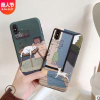 适用苹果X手机壳浮雕猫咪iphone XS MAX XR网红卡通6/7/8plus软壳