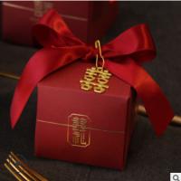 2020新款抖音糖盒结婚喜糖盒中国风婚礼喜糖礼盒空盒喜字吊坠纸盒