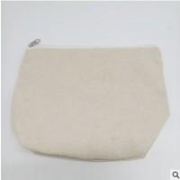 空白拉链帆布袋定做 便捷收纳帆布包 创意零钱拉链全棉帆布包定制